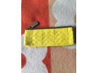 Orla Kiely leather pencil case makeup case