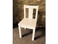 New children's chair, wooden, white