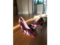 Dune purple patchwork ladies heels - SIZE 39 - good condition