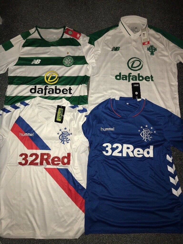 Celtic and Rangers shirt 2018 19 Adult Sizes  55249c7d6
