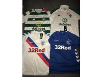 Celtic and Rangers shirt 2018/19 Adult Sizes