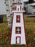 Handcrafted and painted Lighthouse