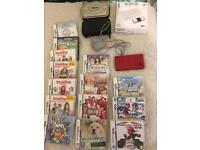 Nintendo Dsi Red with 15 games and 3 cases
