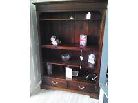 Baker .... Mahagony Bookcase and Coffee Table