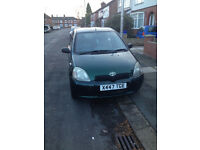Toyota Yaris 2001 For Sale Spare/Repairs