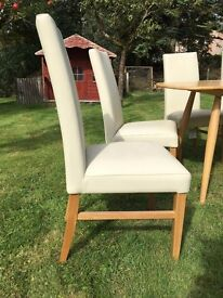 6 Cream Real Leather Vanessa Chairs John Lewis