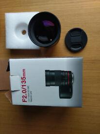 Samyang/Rokinon Manual Focus 135mm F/2 for Nikon with Focus Confirmation