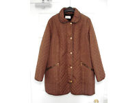 M&S chocolate brown overcoat size 20