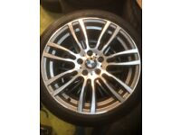 "19"" BMW Staggered F30 Upgraded Msport Alloys 5x120 Genuine Wheels 3 series 4 series 5 series"