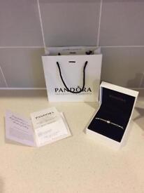 Pandora 5 Clip Bracelet 16cm with receipt, bag and box
