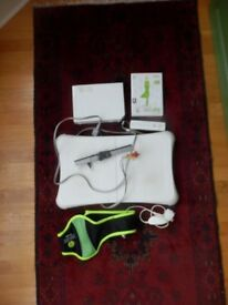Wii Fit console and accessories