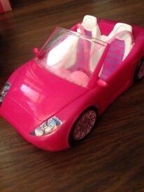 Barbie pink glam car