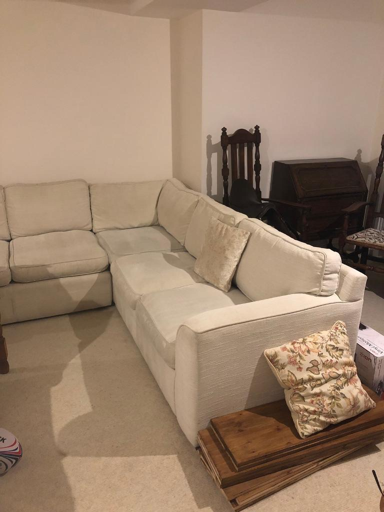 Beige Corner Sofa with pull out Bed   in Cirencester ...