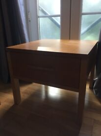 Solid wood side table 60x60cms