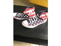 Converse Stars and Stripes limited edition boots size 4.5