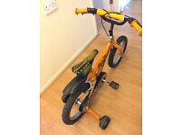 "14"" Dinosaur bike for boys"