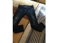 "Men's River Islands Dark Blue With Fading Skinny Stretch Jeans Size waist 34"" 32"" Leg"