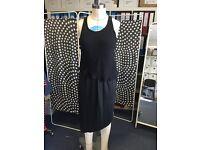RAG & BONE assymetrical black dress, size M