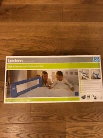 Lindam blue bed rail, brand new in box