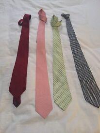 Four Salvatore Ferragamo ties - Amazing colours and styles £200- ono