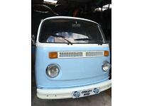1970 VW T2 CAMPERVAN 2L AIRCOOLED ENGINE TWIN CARBS TAX AND MOT'D