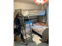 High sleeper cabin bed with matttess