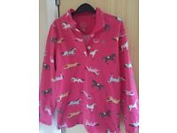 Joules pink riding top