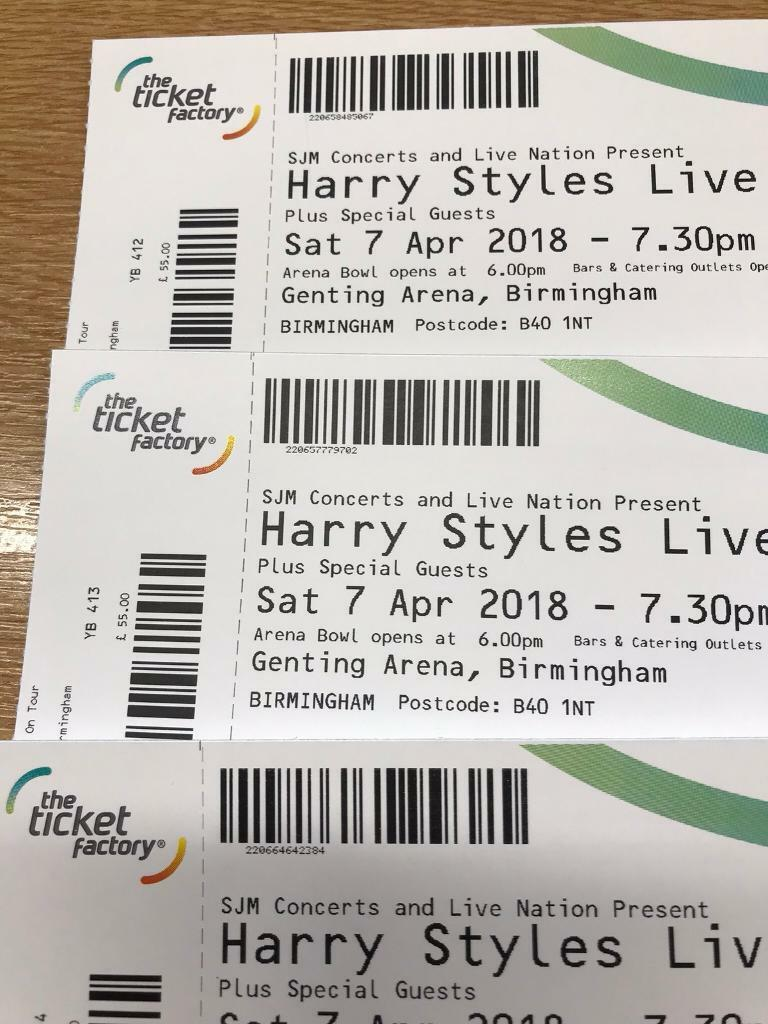 Harry Styles Tickets X4 15 In Dudley West Midlands Gumtree