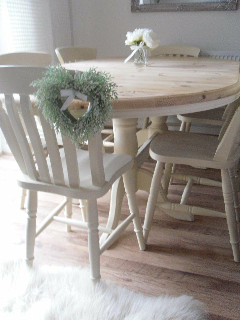 shabby chic dining room furniture beautiful pictures. EXTENDING PINE FARMHOUSE DINING TABLE \u0026 6 CHAIRS - BEAUTIFULLY RESTORED IN SHABBY CHIC Shabby Chic Dining Room Furniture Beautiful Pictures E