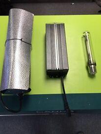 Used Hydroponics Maxibright 600w Digilight Digital Light Kit Ballast Shade Bulb