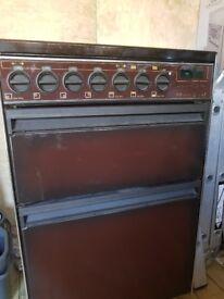 Valor Ventura free standing oven, brown