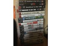 Ps3 with 1 pad and 17 games