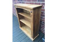 Lovely pine book shelf for sale