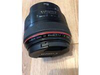 **** CANON 85mm f1.2 L MK II lens, L SERIES, FANTASTIC CONDITION ****