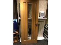 Solid oak Venire inside door