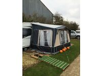 Isabella magnum porch awning with carbon poles and isafix fittings