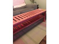 Pink Coffee table/bench