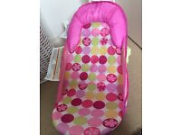 Summer pink baby bath seat from birth