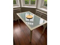 Dining table - glass and wood