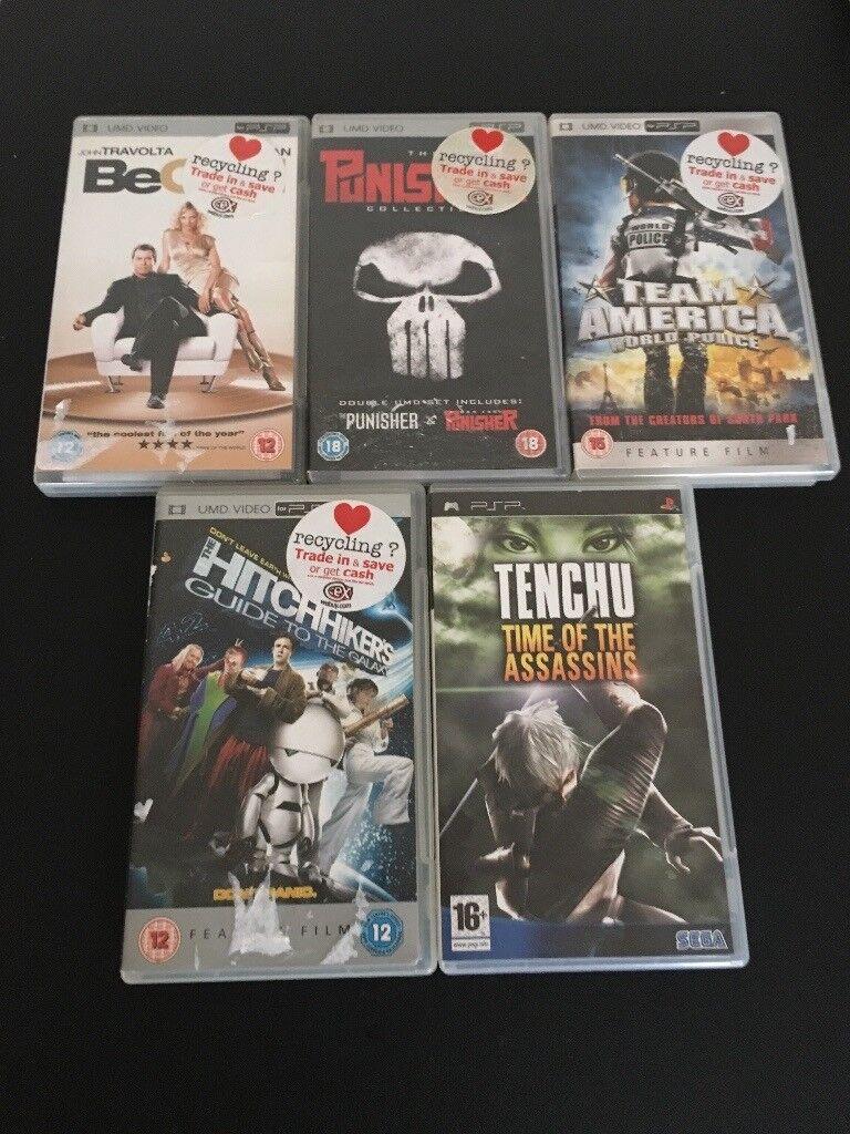 2x PSP games 3 x PSP films