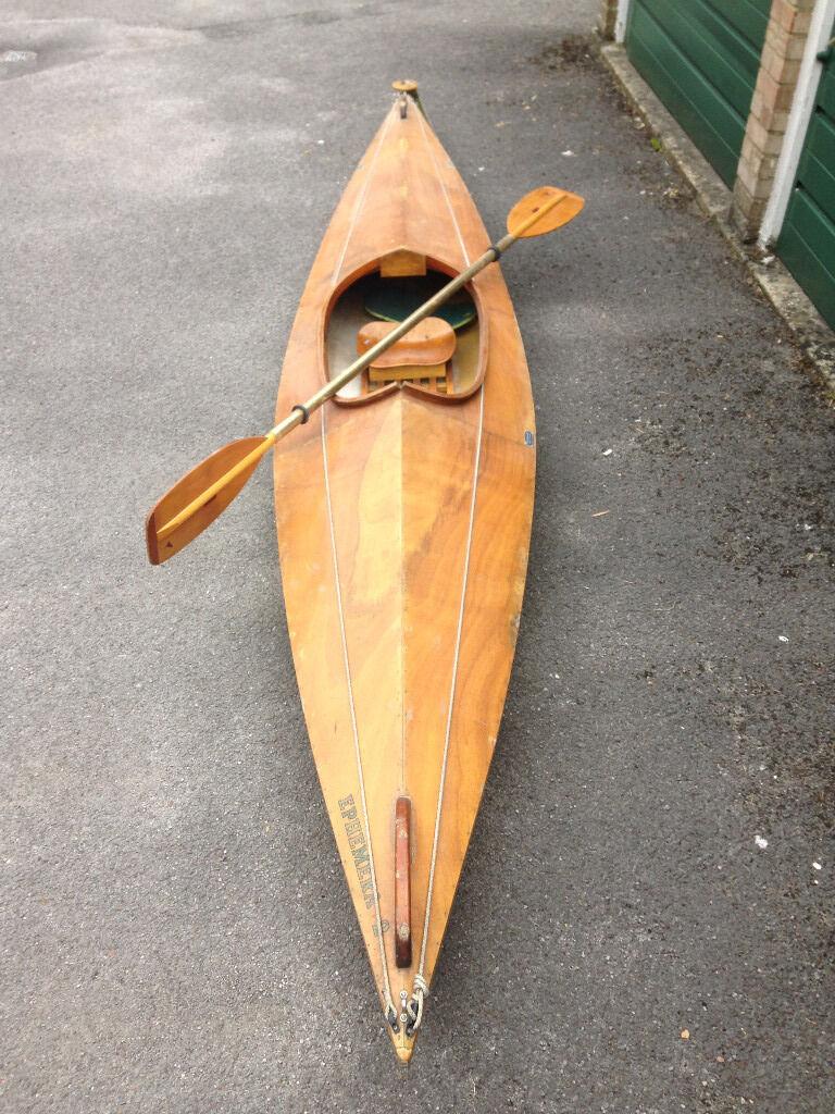Vintage Wooden And Fiberglass Jenkins Lancefield Kayak