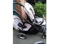 8,week old oyster max 2 new edition single or twin pram puschair
