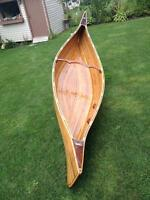 11ft Cedar strip canoe - a unique design