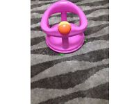 bath chair, pink colour, easy to wash your baby, for 06-12 months