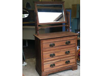 Beautiful chest of drawers with mirror
