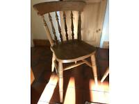 4 Solid Pine Farmhouse Kitchen Chairs