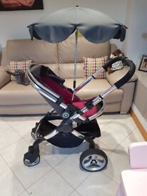 "iCandy Peach 2 Pushchair & Carrycot System (Baby girls pink and mauve ""Berry Bon Bon"" colour scheme)"