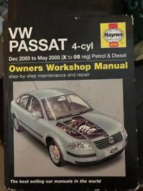 Haynes Manuel for Volkswagen Passat