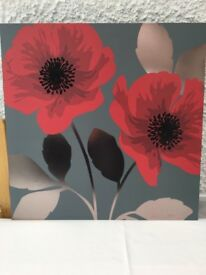 Next Wall Hanging - Poppy - Grey, Red