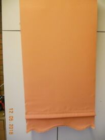 Two roller blinds - Terracotta colour